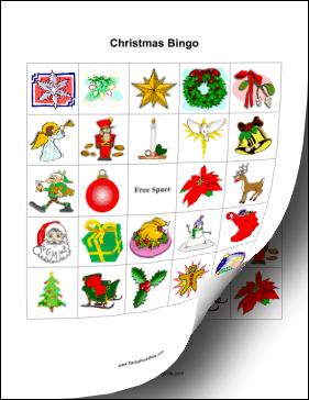 christmas bingo these free printable christmas bingo cards feature ...