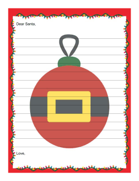 letter to santa with lines this printable letter to santa is ...