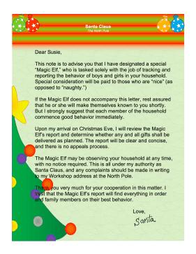 Magic Elf Letter