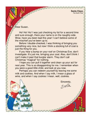 Letter to santa template word new calendar template site for Joke letter templates