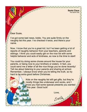 santa letter naughty list in this free printable santa claus letter ...