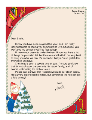 religious letter from santa this printable letter from santa is ...