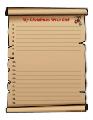 Child Christmas Wish List