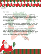 Christmas Morning Letter from Santa about Family