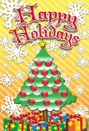 Christmas Tree Ornaments Card