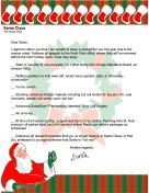 Funny Fill-in Santa Letter for Grownups