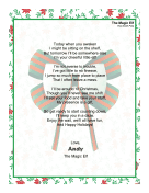 Greeting Letter Magic Elf
