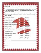 Letter to Santa Checklist