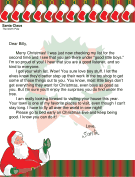 Letter from Santa to a Boy