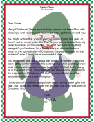 Letter from Santa Claus Focusing on Spiritual Side of Christmas