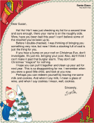 Joking Letter from Santa to a Grownup