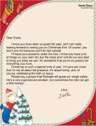 Religious Letter from Santa